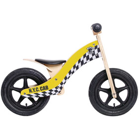 "Rebel Kidz Wood Air Loopfiets 12"" Kinderen, taxi/yellow"